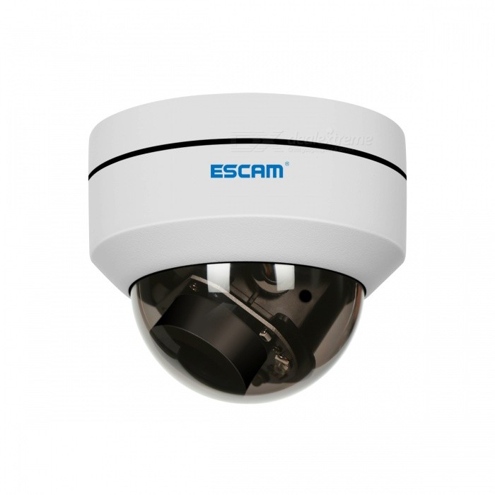 ESCAM PVR002 2MP HD 1080P PTZ 4X Zoom 2.8-12mm Lens Waterproof POE Dome IP Camera  DC12V 1A -White
