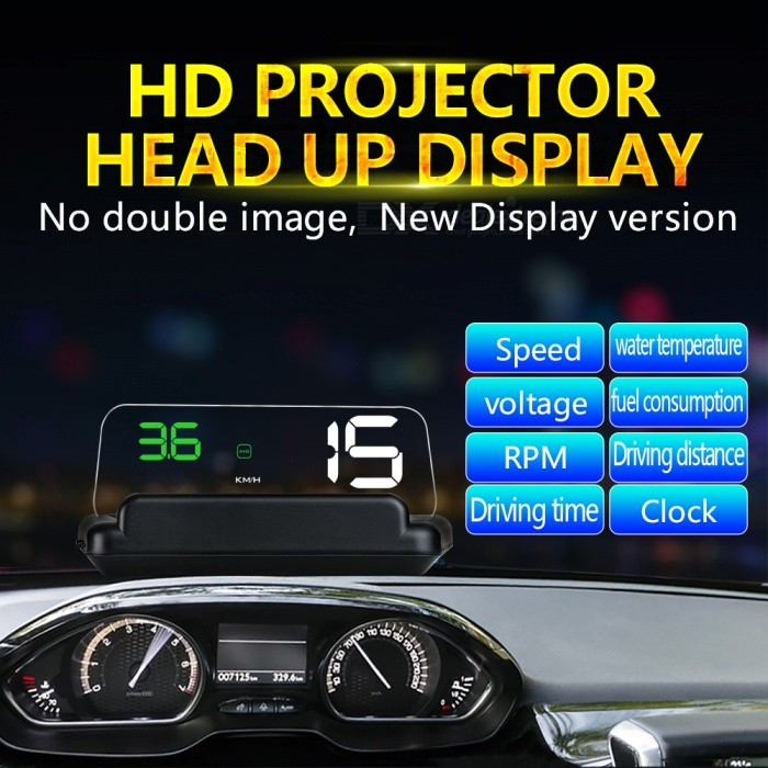 C500 OBD2 Hud Head-Up Display with Mirror Projection