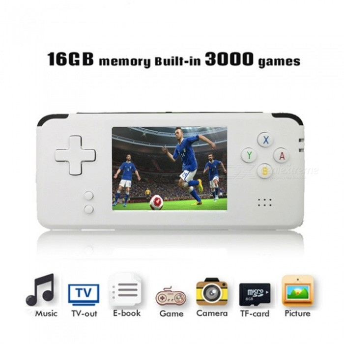 Portable Video Handheld Game Console with 3 Inches Screen, Built-in 3000 Video Games, 16GB Memory