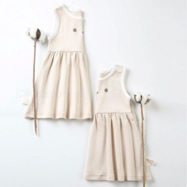 Casual-Summer-Cotton-Infant-Girl-Dress-Sleeveless-Toddler-Baby-Girl-Clothes-For-0-18-Months-Baby-Light-Coffee3M