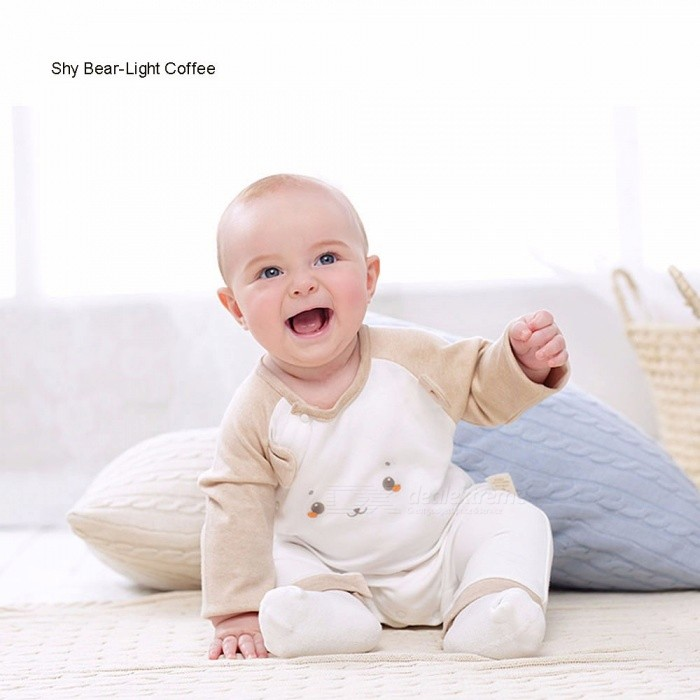 G100-GMS6207-Cartoon-Baby-Autumn-And-Spring-Comfortable-Clothing-Long-Sleeve-Bamboo-Fiber-Cotton-Rompers-Light-Coffee3M