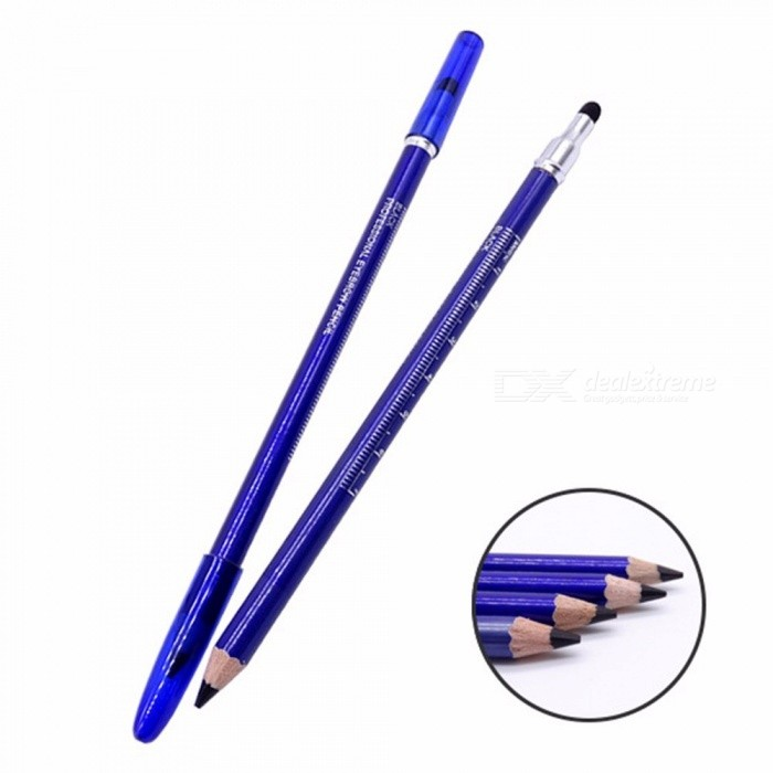 Professional Double Head Cosmetic Eyebrow Pencil With Comb, Waterproof Long Lasting Effect Makeup Eyebrow Pen Gray