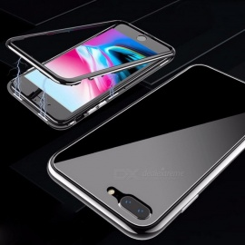 Ultra Magnetic Phone Case, Full Coverage Clear Transparent Tempered Glass Back Cover For IPHONE 7 Plus / 8 Plus