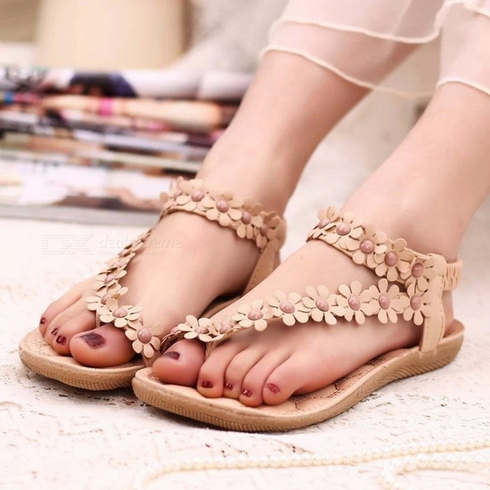 Summer-New-Flat-With-Female-Sandals-Clip-Feet-Toe-Broken-Flowers-Flat-Shoes-Bohemia-Women-Sandals-Beige35