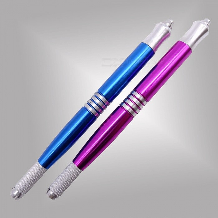 Buy Double Heads Microblading Pen, Tattoo Machine Permanent Makeup Eyebrow Tattoo Manual Pen Red with Litecoins with Free Shipping on Gipsybee.com