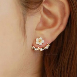 Korean Fashion Imitation Pearl Earrings Small Daisy Flowers Hanging After Senior Women Jewelry