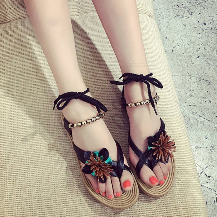 Summer-New-Korean-Version-Of-The-Roman-Flat-Students-Non-slip-Clip-Toe-Simple-Clip-Feet-Wild-Beach-Chic-Women-Sandals-Black35