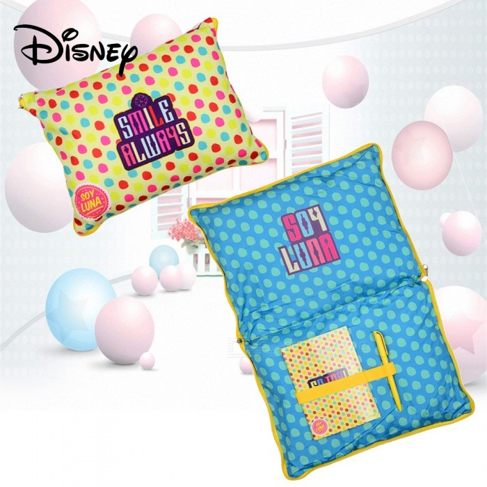 Disney-SOY-LUNA-Folding-Cute-Cotton-Pillow-Colorful-Decorative-Sleep-Pillow-With-Pen-And-Notebook-For-Kids-Adults-Yellow