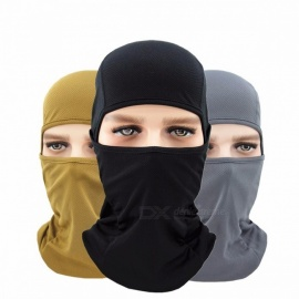 Unisex Cotton Full Face Mask, Motorcycle Cycling Protective Windproof Sunscreen Ski Neck Cap Hat Cover For Women Men White/One Size