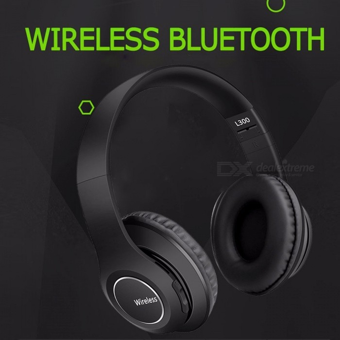 L300 Universal Sports Folding Headphones Wireless Bluetooth Headband Headset Noise Cancelling Headphones Support TF
