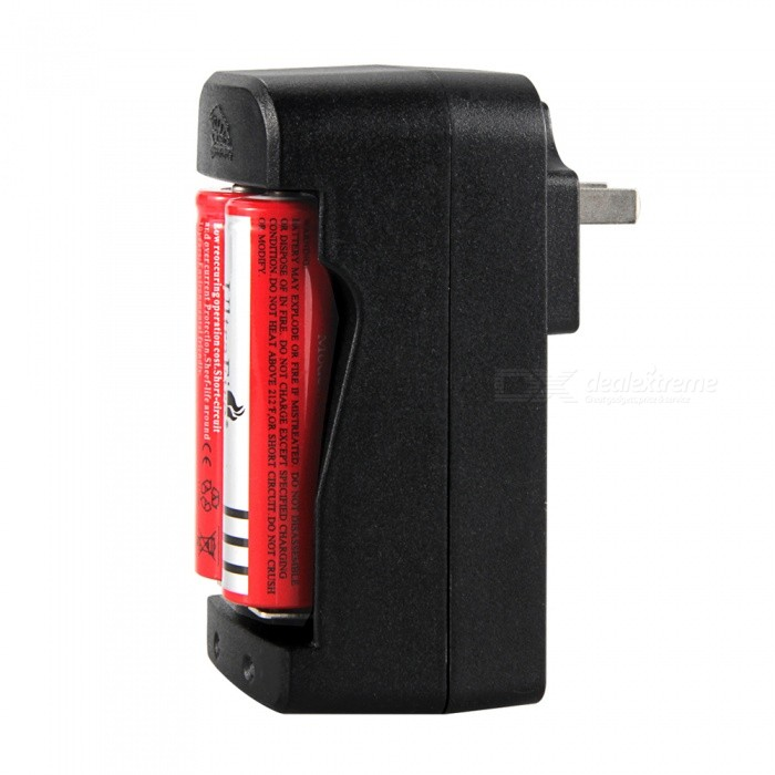 US Plug Double Sot 18650 Electronic Cigarette Flashlight RCR123A Universal Charger