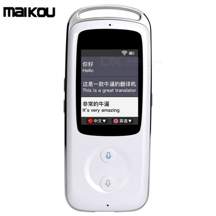 Maikou M9 2.4quot Handheld Smart Real Time Wi-Fi Voice Translator, Multinational Languages Travel Translator