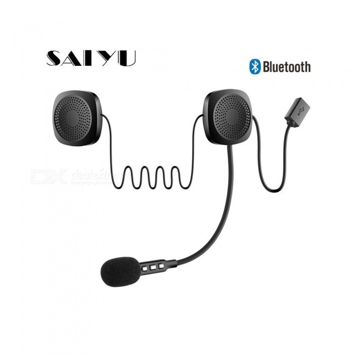 Outdoor Motorcycling Helmet Earphones, Motorcycle Wireless Bluetooth  Headset Headphones With Mic, Auto Call Answer Black