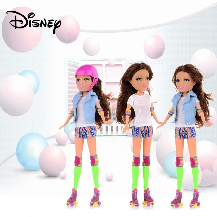 Disney SOY LUNA Cartoon Fashion American Girl Doll Toy For Kids, Clothes Changeable Doll Set Toys Children Gifts Pink