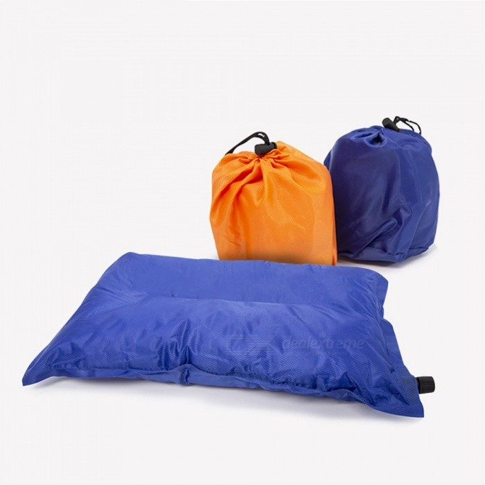 Outdoor Inflatable Pillow Camping Sleeping Pillow Lunch Break Cushion Folding Travel Pillow, Two Heights Adjustable