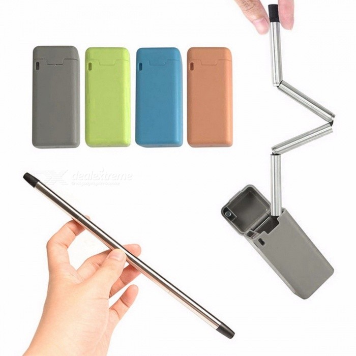 Collapsible Reusable Stainless Steel Straw Portable Travel Outdoor Household Drinking Straws Multi