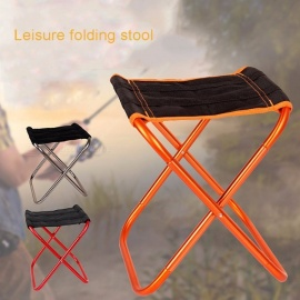 Folding-Outdoor-Chairs-Camping-Hiking-Fishing-Picnic-Garden-BBQ-Stool-Tripod-Chair-Seat-Cloth-Chair-26*32*235cm-Silver