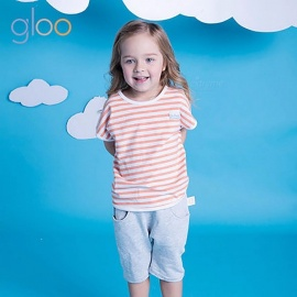 G100-GMS6503-Fashion-Summer-Stripe-Top-2b-Pants-Set-Sports-Casual-Two-piece-Suit-Short-Sleeve-T-shirt-2b-Shorts-For-Kids-Orange12M