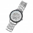 Wilon-Manual-Winding-Mechanical-Wrist-Watch-Silver-2b-Black-2b-White
