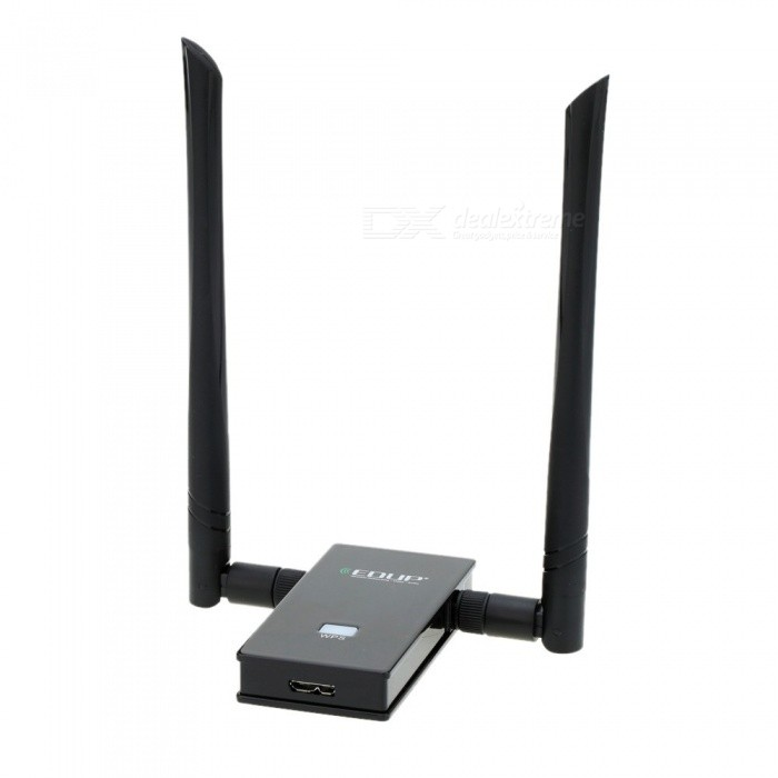 EDUP USB 3.0 Wireless Wifi Adapter Dual Band 2.4GHz/5GHz 1200Mbps 802.11 A/b/n/g/ac With Antennas+Extended Cable Black