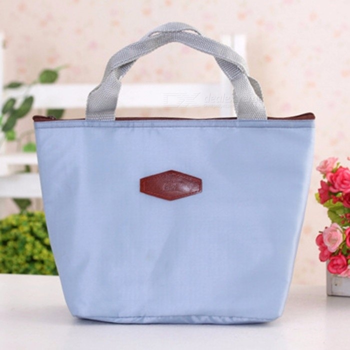 Waterproof Portable Picnic Insulated Food Storage Box Tote Lunch Bag Blue