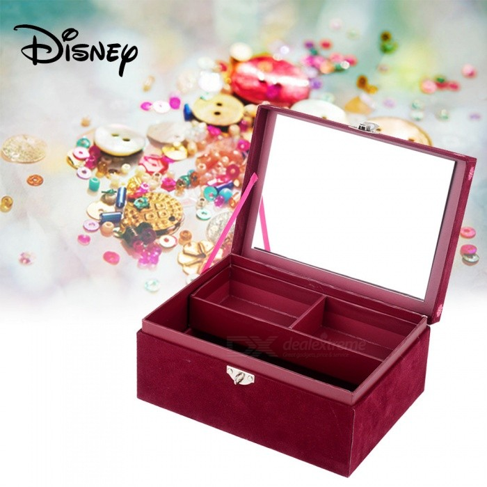 Disney-SOY-LUNA-Fashion-Jewelry-Box-Case-Cassette-With-Lock-For-Kids-Children-Red