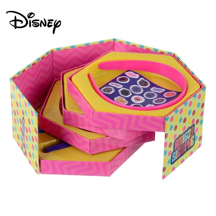 Disney-SOY-LUNA-Cute-Cartoon-Five-Layers-Jewelry-Box-Stationery-Case-Kit-With-Pen-Etc-For-Kids-Children-Pink