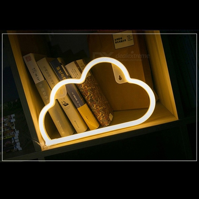 LED Cloud Shaped Wall Light Decorative Neon Light Night Light For Home Party Blue/Clear/0-5W