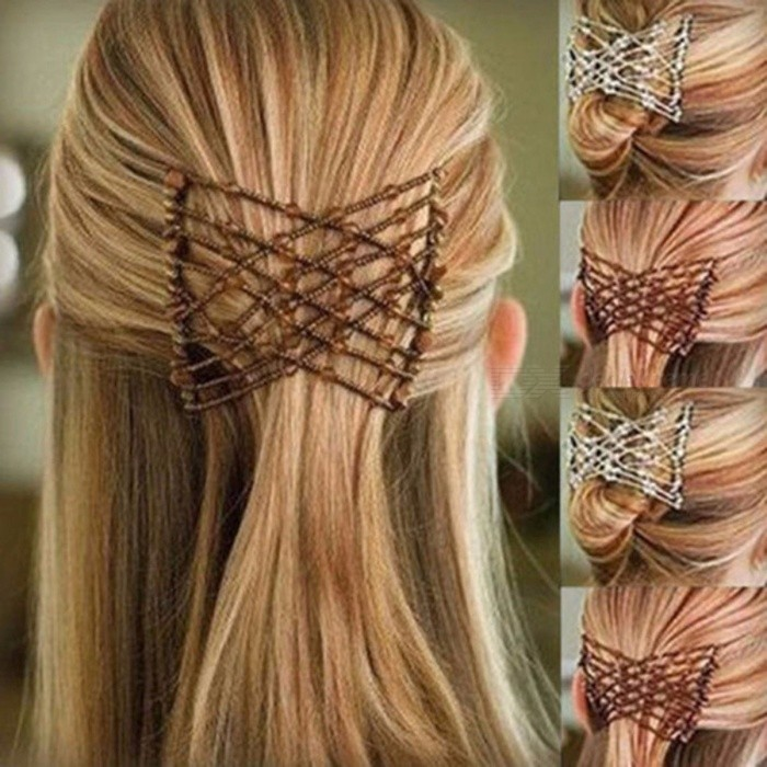 Ladies Head Clip Comb Party Hair Styling Magic Double Slide Stretchy Clip Gift Variety Hair Combs Wire Headband