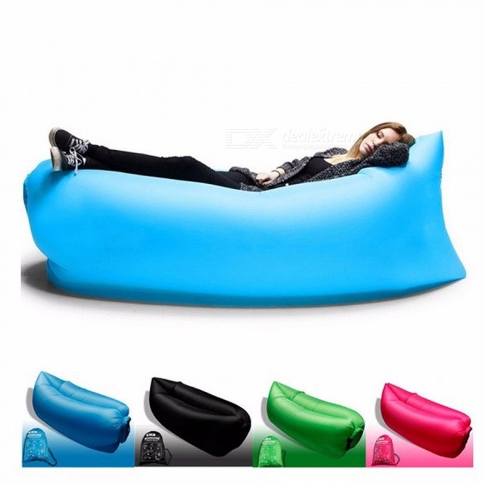 Outdoor Products Fast Infaltable Air Sofa Bed Good Quality Sleeping Bag Inflatable Air Bag Lazy Bag Beach Sof Yellow