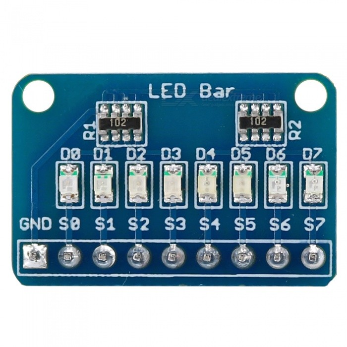 OPEN-SMART Common Cathode 8Bit 8x LED Bar Marquee LED Display Module w/ 4 Kinds of Color for Arduino