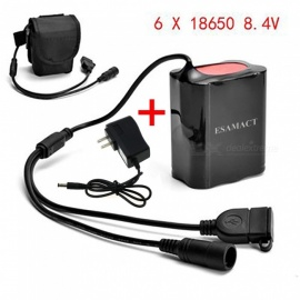 ESAMACT-Portable-84V-6-x-18650-Battery-Pack-with-DC-amp-USB-Port