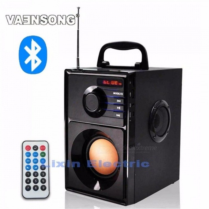 A10 Portable Stereo Bluetooth Speaker 2.1 Subwoofer Can Play TF Card And USB And FM Radio As Well As For Family Black/Speaker