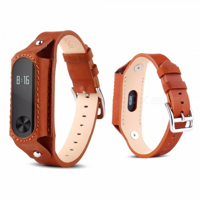 Replacement Band Strap For Xiaomi Mi Band 3 PU, Leather Wristband