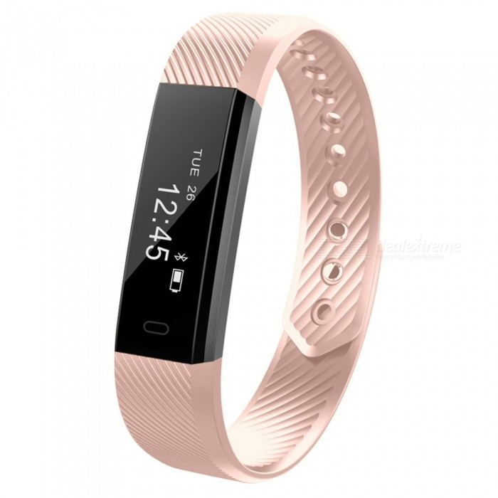 XSUNI ID115 Bluetooth Smart Bracelet with Sports Step Count Pedometer, IP67 Waterproof