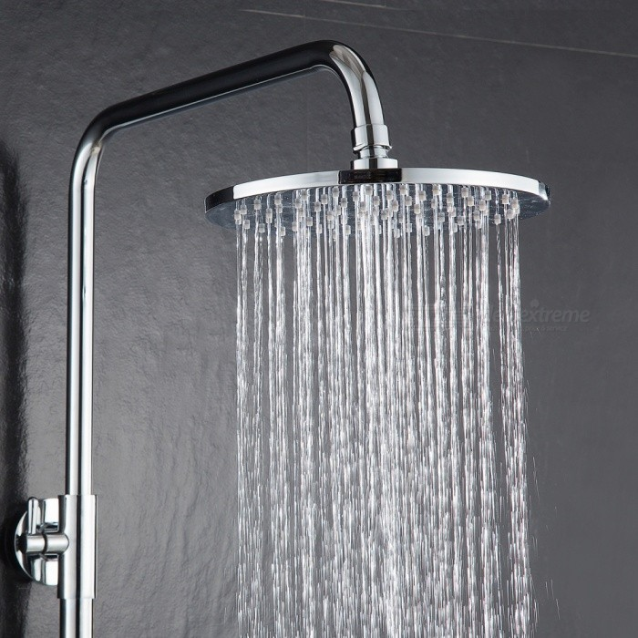 BD127A Brass Chrome 10 Inches Round Rain Shower Head Pressured Shower Head  Powerful Spray Top Shower With Silicone Nozzle