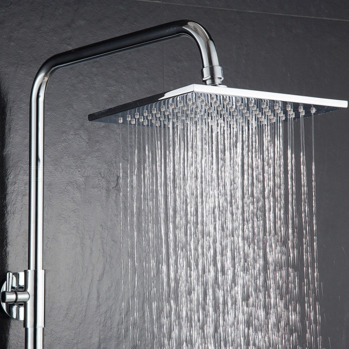 Merveilleux Brass Chrome 12 Inches Square Rain Shower Head Pressured Shower Head  Powerful Spray Top Shower With Silicone Nozzle