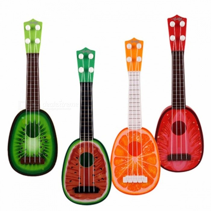 Mini Simulation Guitar/Bass/Ukulele Children Intelligence Development Fruit Shape Music Instrument Toys