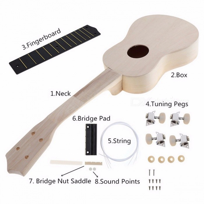 23-Inch-Simple-And-Fun-Ukulele-DIY-Kit-Hawaii-Guitar-Handwork-Support-Painting-Childrens-Toy-Assembly-For-Amateur-Light-Grey21-inches