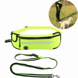 Multifunction-Adjustable-Outdoor-Sports-Running-Pockets-Pets-Leash-Small-And-Medium-sized-Dog-Traction-Pet-Supplies-Lake-Blue