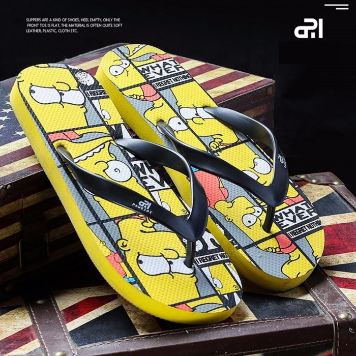 PAWEIDI-1-Pair-Cartoon-Letters-Print-Summer-Beach-Shoes-Mens-Flip-Flops-Anti-Slip-Abrasion-Resistant-Flat-Slippers-For-Men-Red39