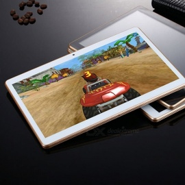 """10.6"""" Ultra Slim Tablet Android 7.0 Quad Core 16GB Tablets Capacitive Screen Support USB TF Card Gold"""