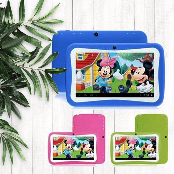 Portable Cute 7 Inches Kids Tablet PC, Children Learning Computer With 512MB RAM, 4GB ROM