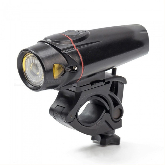 Portable USB Rechargeable Smart Sensor Bicycle Light, Intelligent Induction Night Cycling Front Rear Light Taillight Black