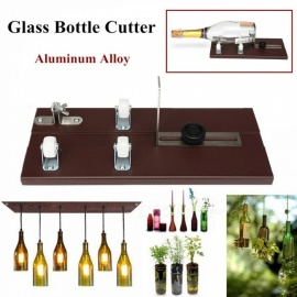 Glass Bottle Cutter, Sturdier Aluminum Alloy DIY Cutting Tool With Cutting Thickness 3-10mm Brown