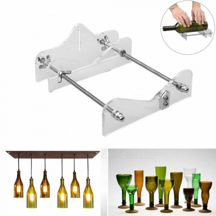 Professional Glass Bottle Cutter Bottle-Cutter, DIY Wine Beer Glass Cutting Tool Machine White