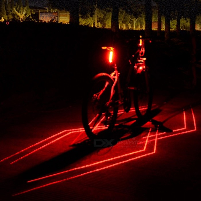 USB Rechargeable Laser Rear Tail Light, Bike Lamp Taillight, Bicycle Cycling Red LED Safety Warning Light Red