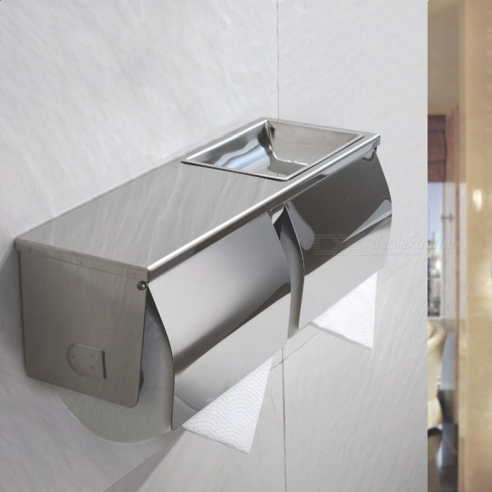 SUS304-Stainless-Steel-Extra-Bathroom-Toilet-Paper-Tissue-Double-Roll-Holder-Dispenser-with-Phone-Wet-Wipe-Shelf-Wall-Mount