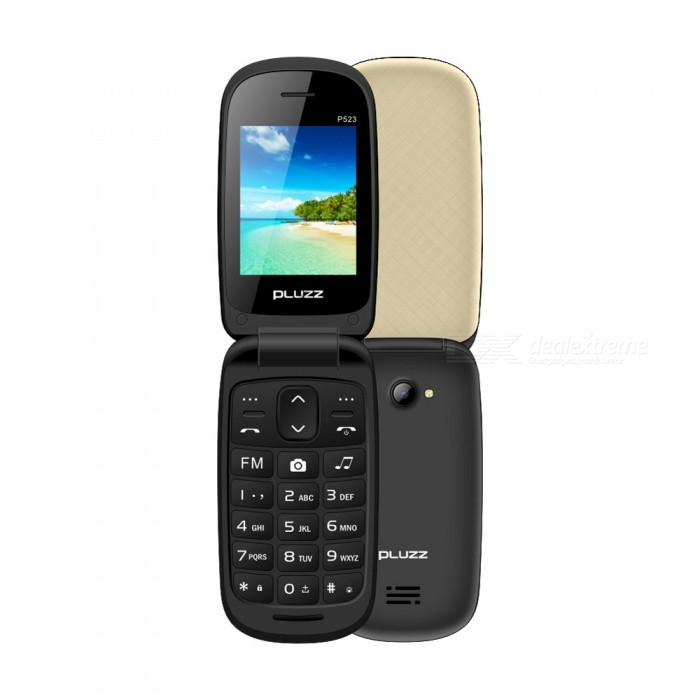 Buy PLUZZ P523 MTK 6261D Slimmer Flip Feature Phone with Litecoins with Free Shipping on Gipsybee.com