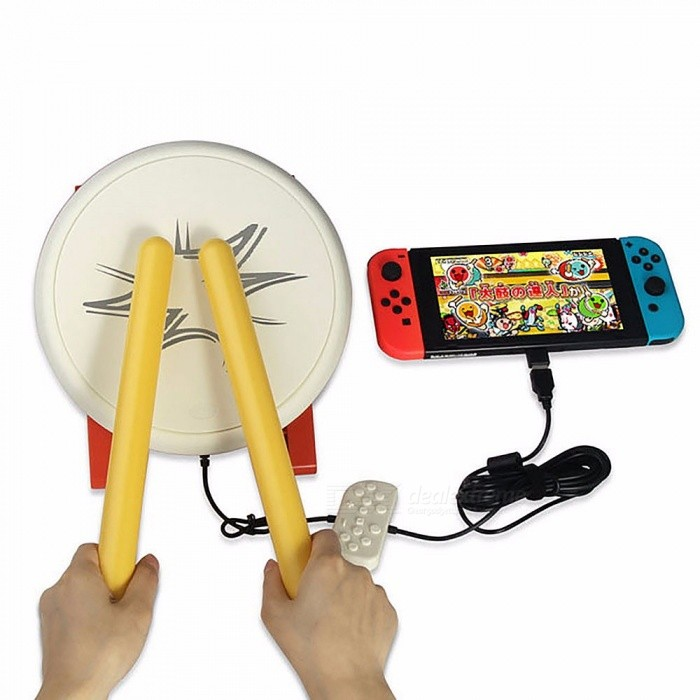 DOBE Drum With Sticks For Nintendo Switch Taiko Drum Joycon TV Game  Playing, Game Accessories
